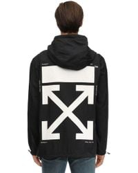 Off-White c/o Virgil Abloh - Packable Printed Techno Rain Anorak - Lyst