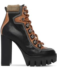 DSquared² 120mm Lace-up Leather Hiking Boots - Black