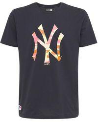 KTZ Mlb Ny Yankees Camo Logo T-shirt - Синий