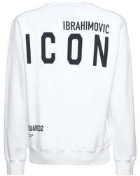 DSquared² Ibrahimovic Icon ジャージースウェットシャツ - ホワイト