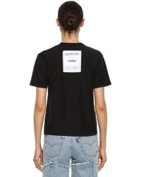 Vetements - Inside-out Logo Jersey T-shirt - Lyst