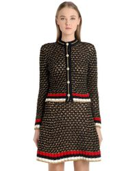 Gucci - Heavy Cotton & Lurex Blend Cardigan - Lyst