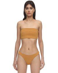 AEXAE Lycra & Nylon Bandeau Bikini Top - Металлик