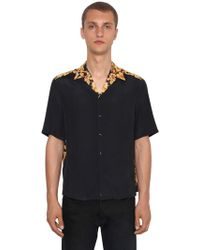Versace - Hibisbcus Heritage Bowling Shirt - Lyst