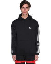"""adidas Originals Hoodie Aus Baumwollfleece """"new Icon"""" - Schwarz"""