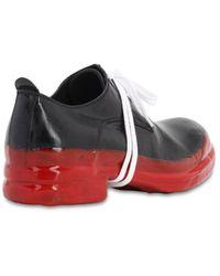 Mattia Capezzani Leather Lace-up Shoes W/ Rubberized Sole - Black