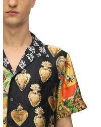 Dolce & Gabbana - シルク ボウリングシャツ - Lyst