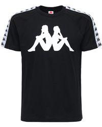 Kappa T-shirt Aus Baumwolle Mit Logodruck - Schwarz