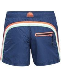 Sundek Logo Tech Swim Shorts - Blue