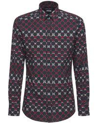 Dolce & Gabbana Рубашка Из Хлопка Стрейч С Принтом - Многоцветный