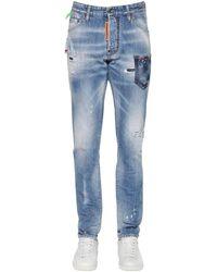 """DSquared² Jeans """"Cool Guy"""" De Denim De Algodón 16.5Cm - Azul"""