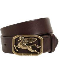 Etro 35mm Leather Belt - Brown