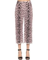 Roberto Cavalli Jeans Aus Baumwolldenim Mit Leodruck - Pink