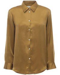 Asceno Пижама Рубашка Из Шелкового Атласа The London - Серый