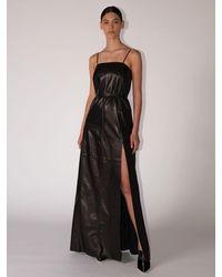 Ferragamo レザードレス - ブラック