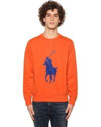Polo Ralph Lauren Sweatshirt Aus Baumwollmischung Mit Patch - Orange