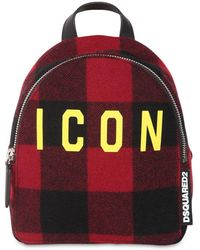 """DSquared² Mini Rucksack Aus Wolle """"icon"""" - Rot"""
