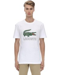 Lacoste T-shirt In Jersey Di Cotone - Bianco