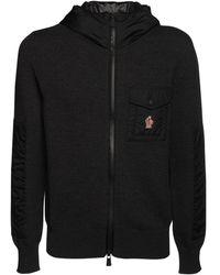 3 MONCLER GRENOBLE Wool Tricot Knit Jumper - Black