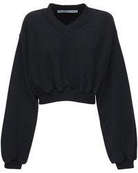 Alexander Wang コットンクロップドセーター - ブラック