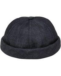 Beton Cire - Handmade Washed Cotton Denim Sailor Hat - Lyst