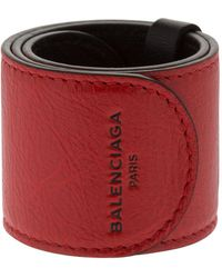 "Balenciaga - Bracciale ""cycle"" In Pelle - Lyst"
