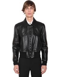 Givenchy レザー クロップドジャケット - ブラック