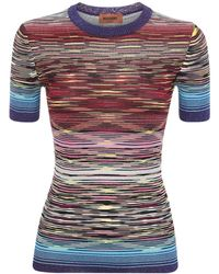 Missoni Camiseta De Punto De Lurex Con Intarsia - Multicolor