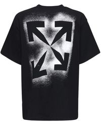 Off-White c/o Virgil Abloh Over Logo Print Cotton Jersey T-shirt - Черный