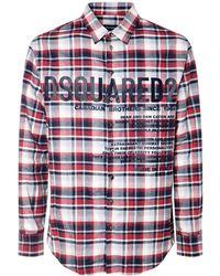 DSquared² コットンフランネルシャツ - マルチカラー