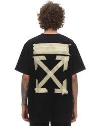 Off-White c/o Virgil Abloh T-shirt Aus Jersey Mit Druck - Schwarz