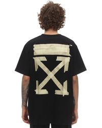 Off-White c/o Virgil Abloh Print Tape Arrows Over Jersey T-shirt - Black