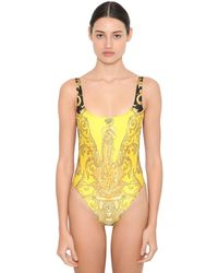 Versace Printed Lycra One Piece Swimsuit - Multicolor