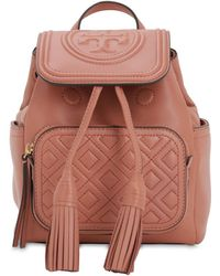 Tory Burch Fleming Mini Quilted Leather Backpack - Multicolor