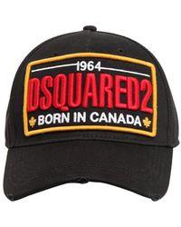 DSquared² Baseballkappe Aus Baumwollcanvas Mit Icon-motiv - Schwarz
