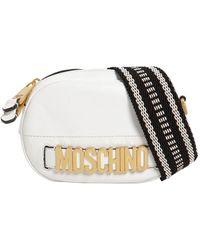 Moschino - Shiny Leather Bag W/ Webbing Strap - Lyst