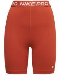 Nike High Rise Bike Shorts - Brown