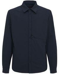 Sease パデッドストレッチナイロンシャツジャケット - ブルー