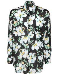 Tom Ford Рубашка Из Лиоцелла С Цветочным Принтом - Многоцветный