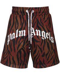 Palm Angels Tiger & Logo Print Tech Mesh Shorts - Многоцветный