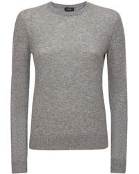 Theory Crewneck Cashmere Knit Jumper - Grey