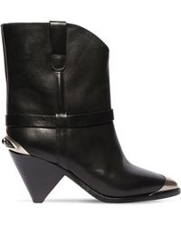 Isabel Marant 75mm Limza Leather Ankle Boots - Black