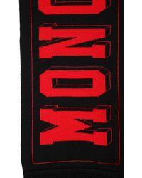 Moncler ロゴ ウールジャガードスカーフ - レッド