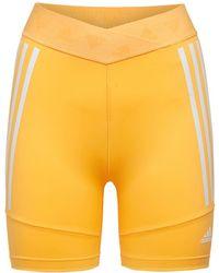 adidas Originals Шорты-велосипедки - Оранжевый