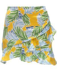Bec & Bridge - Palm Paradise サテンミニスカート - Lyst
