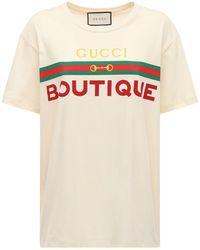 Gucci Printed Cotton Jersey T-shirt - White