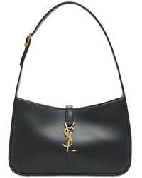 Saint Laurent Le 5 À 7 Leather Hobo Bag - Black