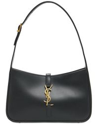 Saint Laurent Le 5 À 7 Leather Hobo Bag - Черный
