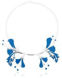 EK Thongprasert Metal Flower Necklace - Metallic