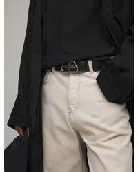 Balenciaga Кожаный Ремень С Пряжкой-логотипом 45мм - Черный